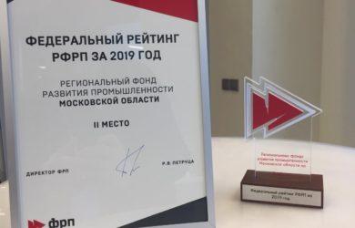Подмосковный ФРП занял второе место в рейтинге РФРП в 2019 году